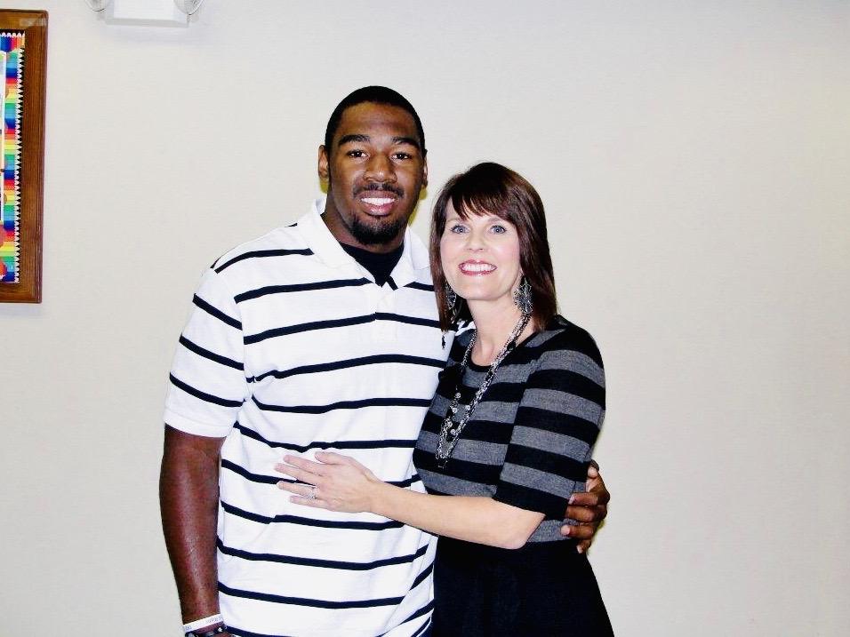 Lisa Wilson with former studentKenny Hilliard