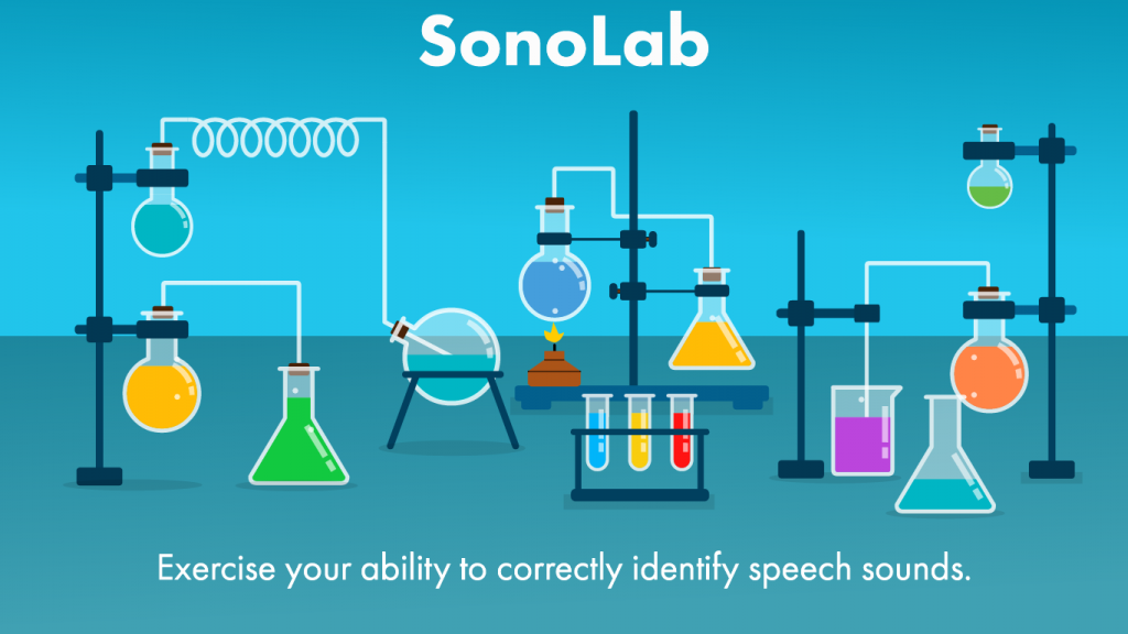 Splash Screen of SonoLab, one exercise in Fast ForWord Literacy