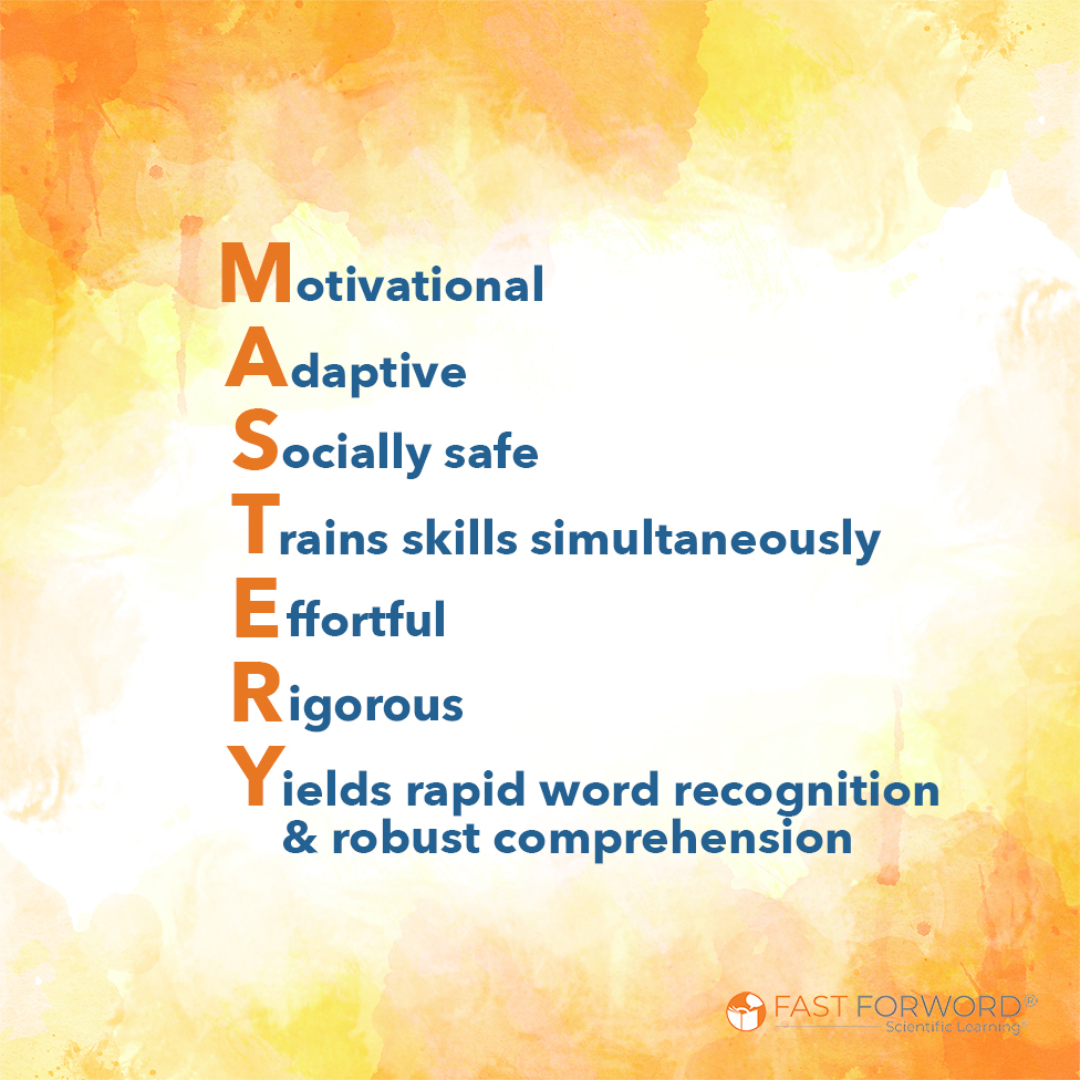 MASTERY acronym for Motivational Adaptive Socially safe  Trains skills simultaneously Effortful Rigorous Yields